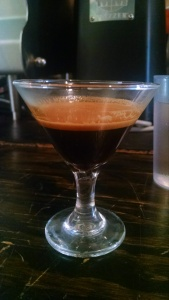 Honorable mention to Killer ESP and their adorable espresso martini glasses